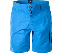 Herren Hose Shorts Regular Fit Baumwoll-Mix azurblau