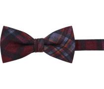 Krawatte Schleife Wolle dunkel kariert
