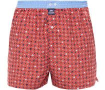Herren Unterwäsche Boxershorts, Baumwolle, Rot gemustert rot