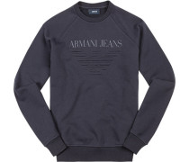Herren Sweatshirt Baumwolle nachtblau