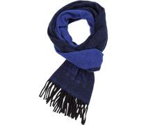 Herren Schal, Wolle, navy blau