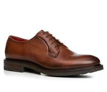 Herren Schuhe Derby Leder cuoio braun,rot