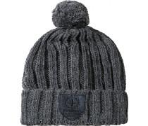 Herren  strellson Mütze Woll-Mix grau meliert