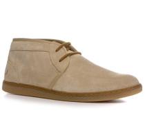 Herren Schuhe Desert Boots Veloursleder beige