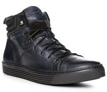 Herren Schuhe Sneaker, Leder, dunkelblau