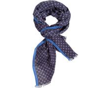 Herren LONDON, Schal, Kaschmir-Modal, navy-braun gemustert blau