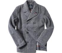 Herren Cabanjacke Woll-Mix teilgefüttert grau meliert grau,grau