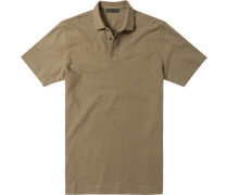 Herren Polo-Shirt Baumwoll-Piqué khaki grün