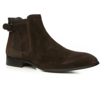 Herren Schuhe Chelsea Boots Veloursleder dunkelbraun braun,braun