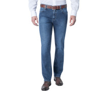 Herren Jeans Kirk, Contemporary Fit, Baumwoll-Stretch, denim blau