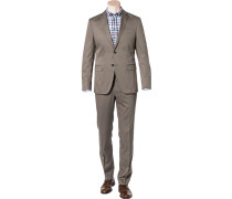 Herren Anzug, Baumwolle halbgefüttert, graubraun