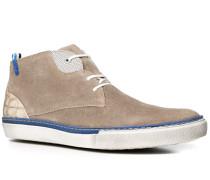 Herren Schuhe Sneaker Veloursleder greige beige,weiß