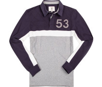 Herren Polo-Shirt Baumwolle blau