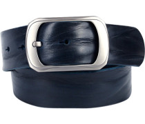 Herren Gürtel nachtblau, Breite ca. 4 cm