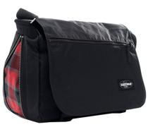 Herren Messenger Bag, Microfaser, schwarz