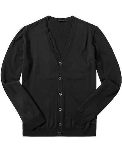 joop herren herren cardigan schurwolle schwarz reduziert. Black Bedroom Furniture Sets. Home Design Ideas