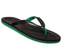 Herren Schuhe Zehensandalen, Gummi, schwarz-grün