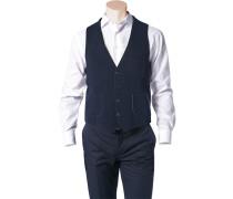 Herren Anzug Weste Wolle marine blau