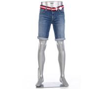 Jeansbermudas Slipe, Regular Slim Fit, Baumwoll-Stretch 12oz