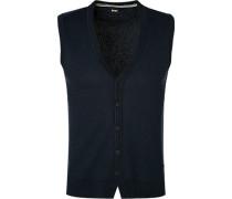 Pullover Strickweste Baumwolle dunkel