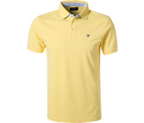 Polo-Shirt Slim Fit Baumwoll-Piqué hell