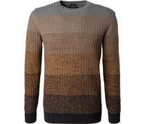 Pullover Modern Fit Baumwolle blau- meliert