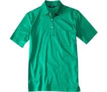 Herren Polo-Shirt, Baumwoll-Jersey, maigrün