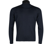 Herren Rollkragenpullover, Modern Fit, Merinowolle, marine blau