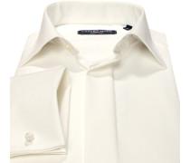 Herren Hemd, Comfort Fit, Popeline, creme weiß