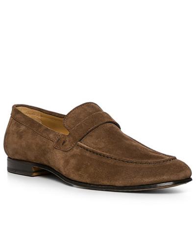 Schuhe Loafer, Veloursleder, haselnuss