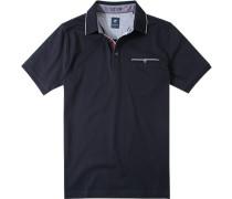Herren Polo-Shirt Baumwoll-Jersey dunkelblau