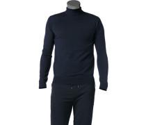 Herren Pullover Merinowolle nachtblau