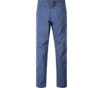 Herren Jeans Regular Fit Baumwoll-Stretch blau meliert