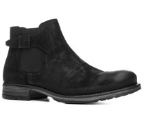 Herren Schuhe Chelsea Boots Kalbveloursleder schwarz schwarz,blau