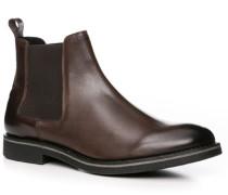 Herren Schuhe Chelsea-Boots Rindleder dunkelbraun