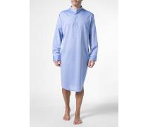Herren Nachthemd, Baumwolle, hellblau meliert