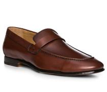 Herren Schuhe Loafer, Kalbleder, cognac braun