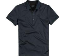 Herren Polo-Shirt, Baumwoll-Jersey, nachtblau
