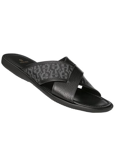 Aigner Herren Schuhe Sandalen, Leder, gemustert