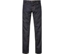 Herren Jeans Shaped Fit Baumwolle nachtblau