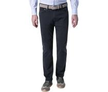 Herren Jeans, Regular Fit, Baumwoll-Stretch, navy blau