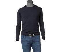 Herren Pullover Wolle nachtblau