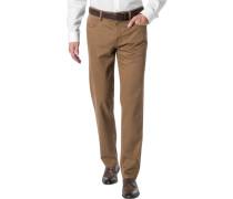 Herren Jeans Baumwoll-Stretch haselnussbraun
