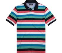 Herren Polo-Shirt, Pima Baumwoll-Piqué, multicolor gestreift