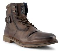 Schuhe Schnürstiefeletten mit Reißverschluss, Leder warmgefüttert