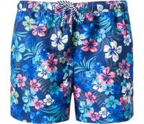 Herren Bademode Bade-Shorts, Microfaser, multicolor