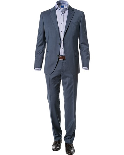 joop herren herren anzug regular fit schurwolle taubenblau meliert reduziert. Black Bedroom Furniture Sets. Home Design Ideas