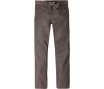 Herren Jeans Classic Comfort Fit Baumwoll-Mix T400 braun