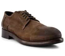 Schuhe Derby Nubukleder whisky