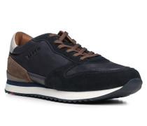 Herren Schuhe Sneaker Kalb-Rindleder blau